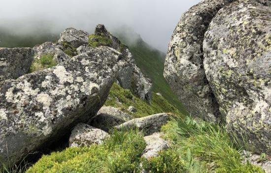 Parcours minéral à l'approche du Peyre Arse