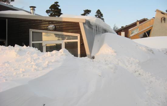 Enorme chute de neige au Mont Lozere