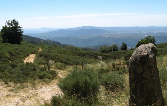 Depuis la montagne du Lingas