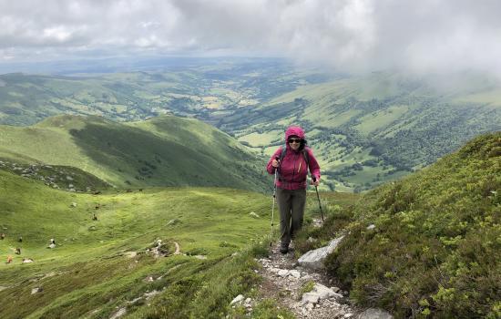Dans l'ascension du Puy de Peyre Arse