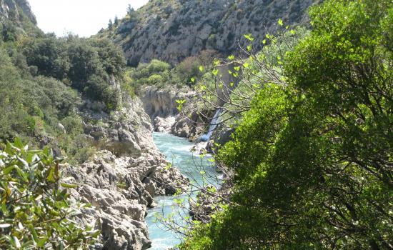 Le fleuve Hérault qui naît dans les Cévennes