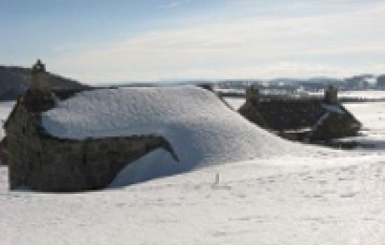 Hameaux du Mont Lozère enneigés