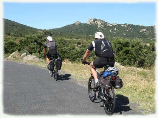 Randonnée vélo sur les routes des châteaux cathares