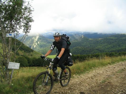 Mountain biking between Monts d'Ardeche and Haut Loire