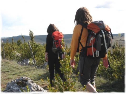 Traversee du Causse Méjean sur le Chemin de St Guilhem