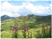 Site spectaculaire sur les vestiges d'un ancien volcan