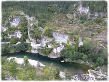 Les Gorges du Tarn et ses eaux vertes