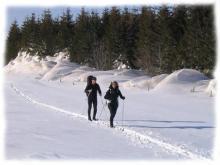 L'Aubrac et ses vastes etendues, paradis du ski de randonnee nordique