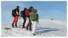 Winter, Aubrac and its large snowy expanses are an invitation to snowshoe hiking