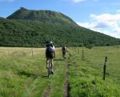 Parcours vtt à travers les volcans d'Auvergne