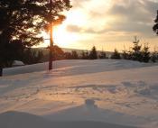 Coucher de soleil sur le Mt Lozère