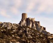 Chateau de Queribus dominant Cucugnan